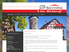 Drupal Website der Backmeroff Claus GmbH