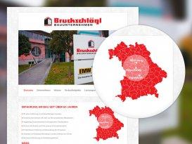 Drupal Website der Michael Bruckschlögl GmbH - Bauunternehmen