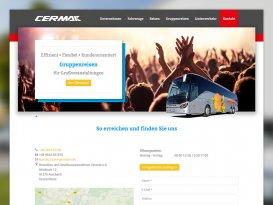 Responsive Website von Cermak Reisen