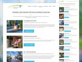 Drupal Website Servidio Außenanlagen