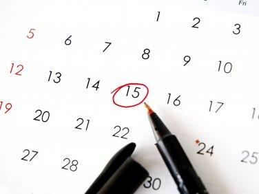 Angestrichener Kalender
