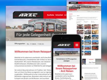 Drupal Website der Ludwig Arzt Omnibusverkehr e. K.