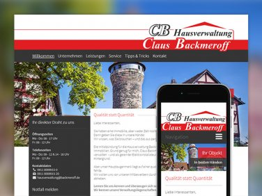 Drupal Website der Backmeroff Claus GmbH