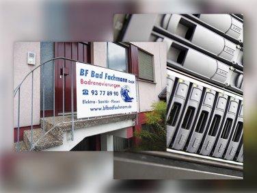 Eingangsbereich der BF Bad Fachmann GmbH und Server