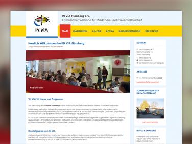 Der neue Webauftritt von IN VIA Nürnberg