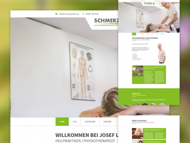 Drupal Website der Schmerzpunkt Praxis