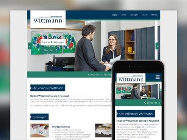 Neue Webseite für die Steuerkanzlei Wittmann
