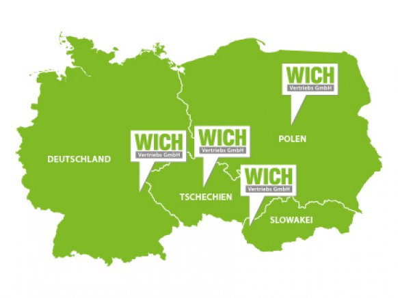 Standorte der Wich Vertriebs GmbH