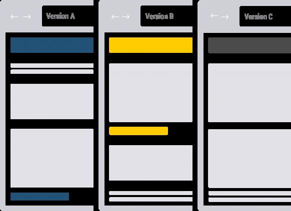 Verschiedene Designvorlagen