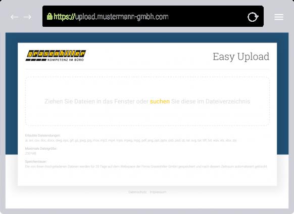 Easy Upload - Professioneller Datenaustausch für Unternehmen