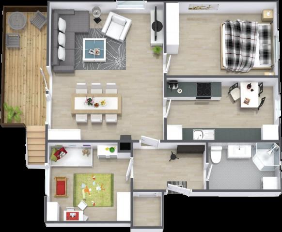 Skizze einer Wohnung