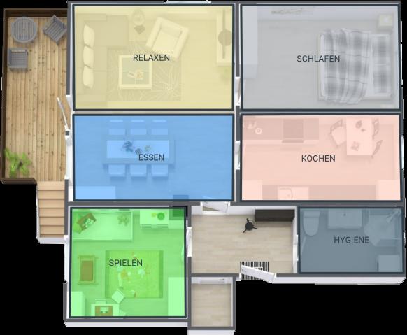 Skizze Wohnung mit Beschreibung