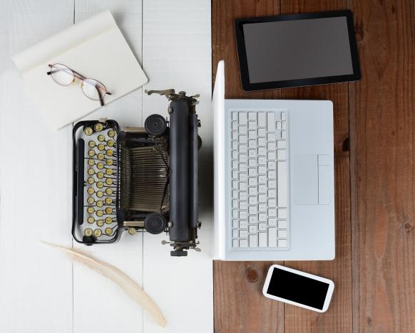 Schreibmaschine und mobile Endgeräte