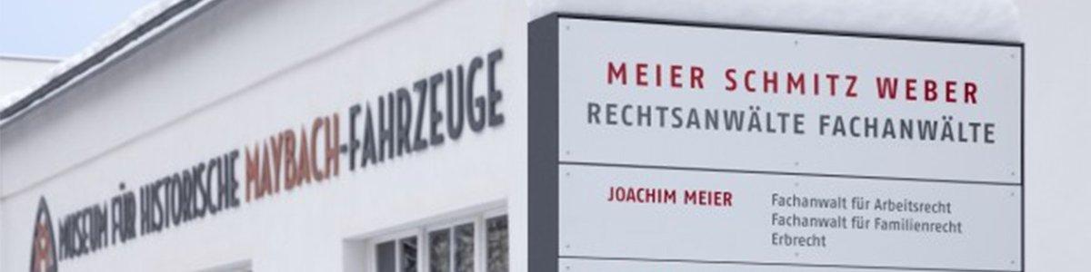Ausenbereich von Meier Schmitz Weber Rechtsanwälte Fachanwälte