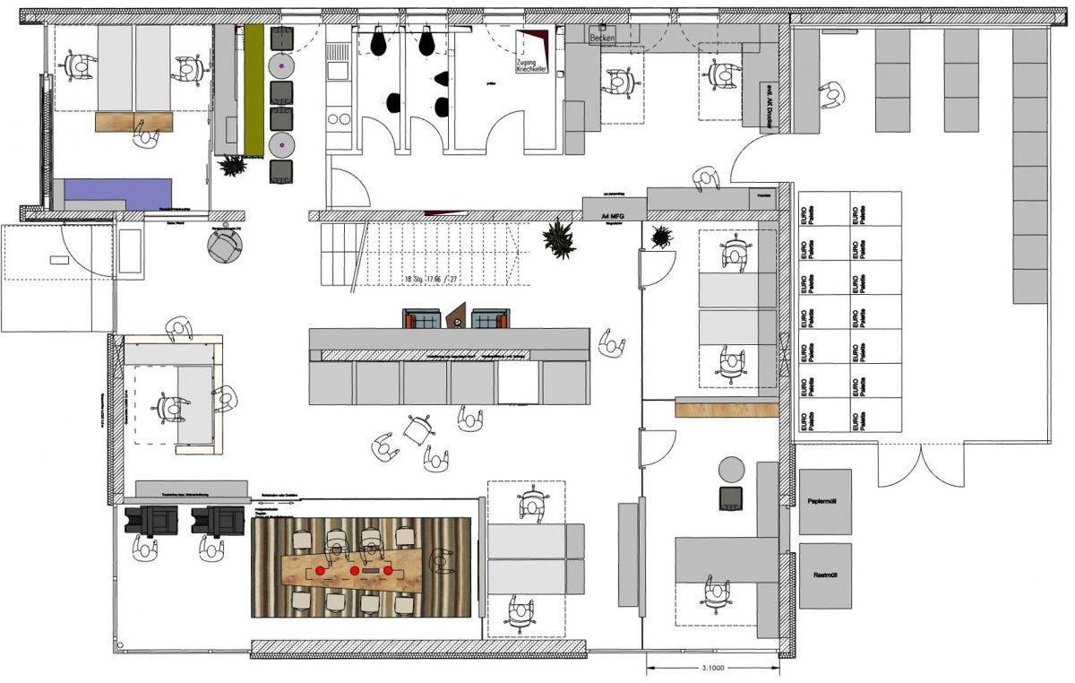 Büroraumplanung