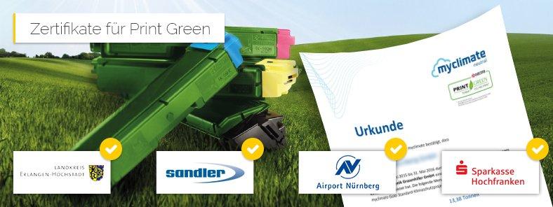 Zertifikate Print Green