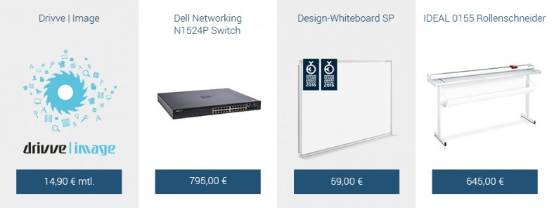 Drivve | Image, Dell Networking N1524P Switch, IDEAL 0155 Rollenschneider, Design-Whiteboard SP