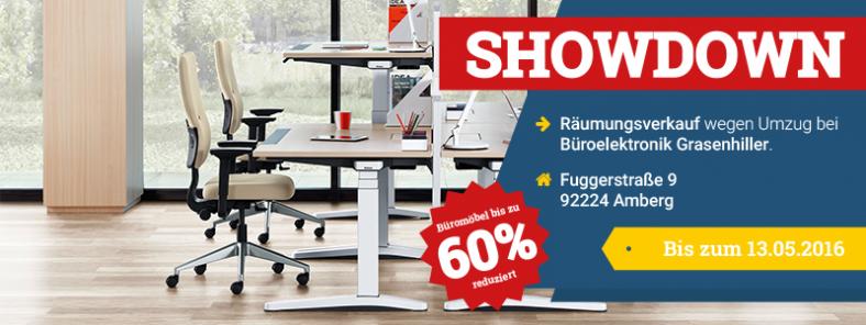 Bis zu 60 Prozent Nachlass auf Büromöbel