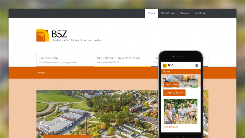 Grasenhiller erstellt neue Webseite für das BSZ Roth