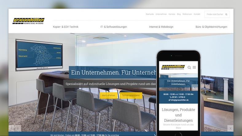 #allesneu - Relaunch der Webseite bei Grasenhiller