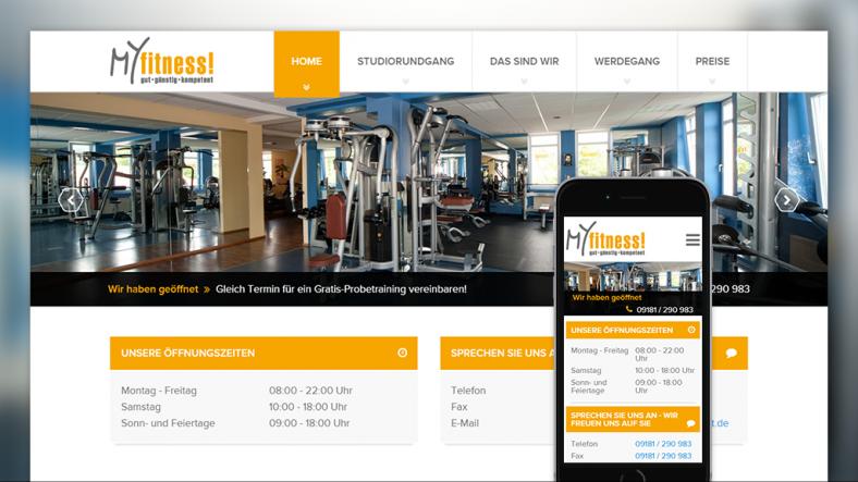 Drupal Website von MyFitness Neumarkt