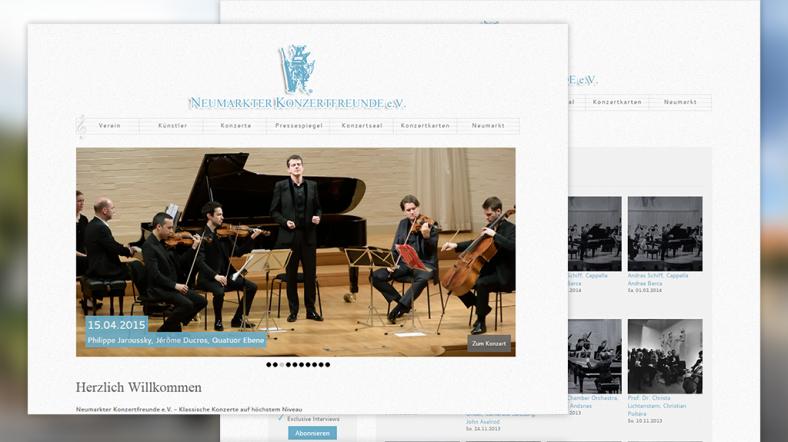 Drupal Website der Neumarkter Konzertfreunde e.V.