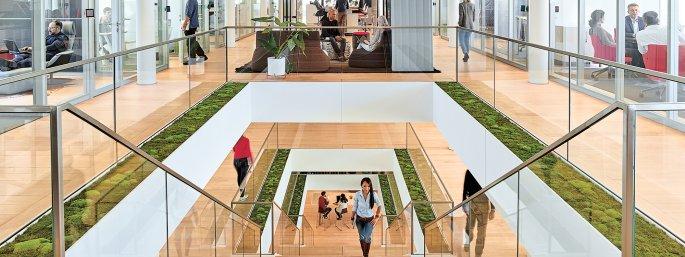 Modernes und inspirierendes Büro