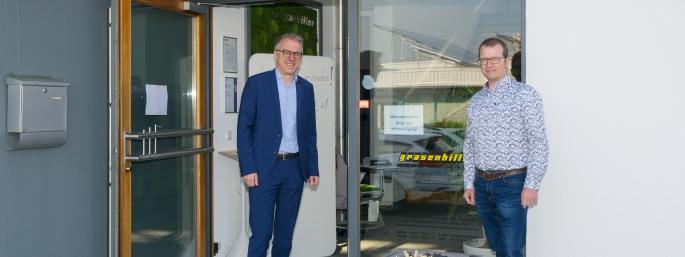 Hermann Iberler mit dem Geschäftsführer der Jobst IT