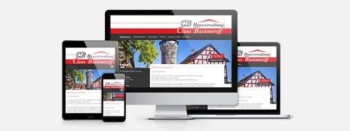 Responsive Seite für die Backmeroff Claus GmbH