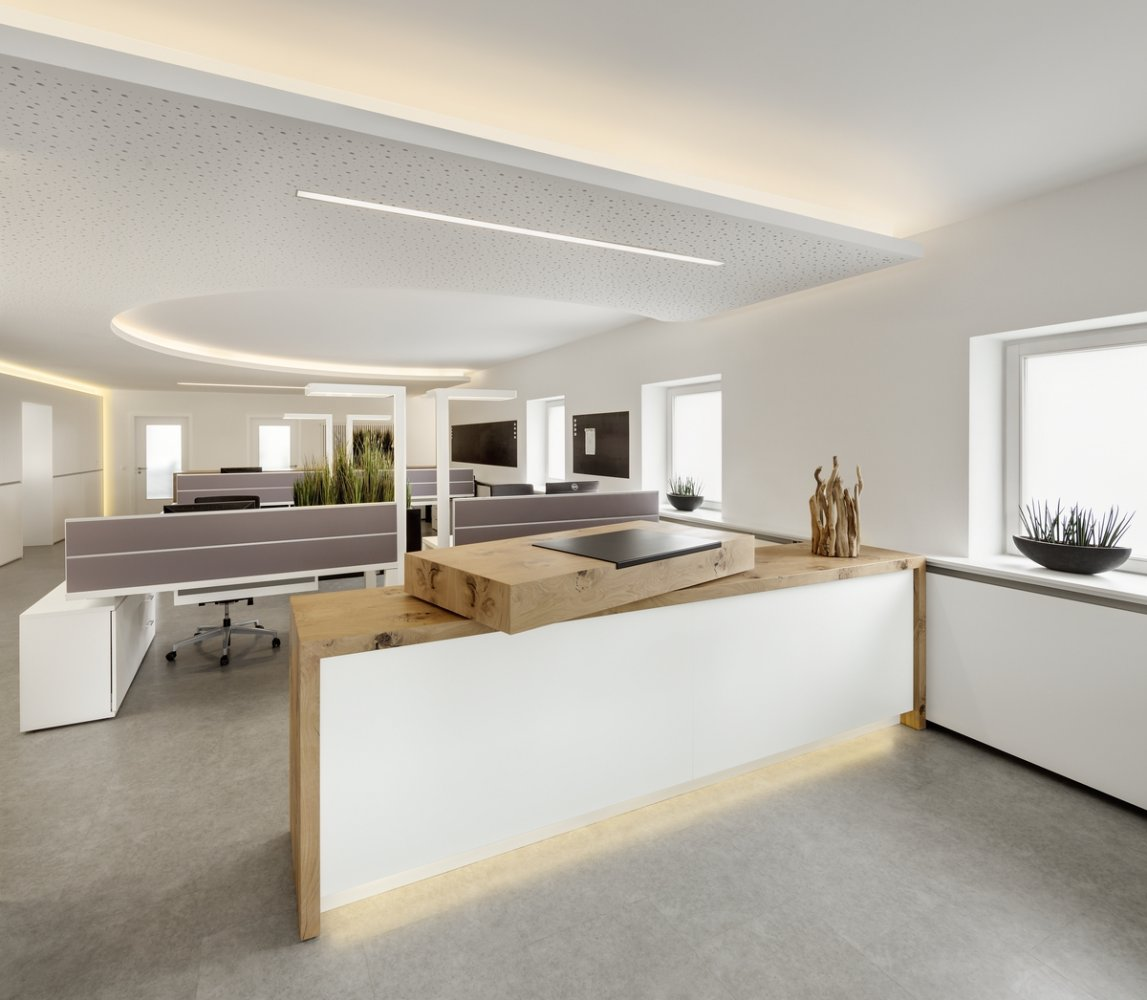 theke holz screens arbeitspl tze beleuchtung akustikdecke umbau und modernisierung der. Black Bedroom Furniture Sets. Home Design Ideas